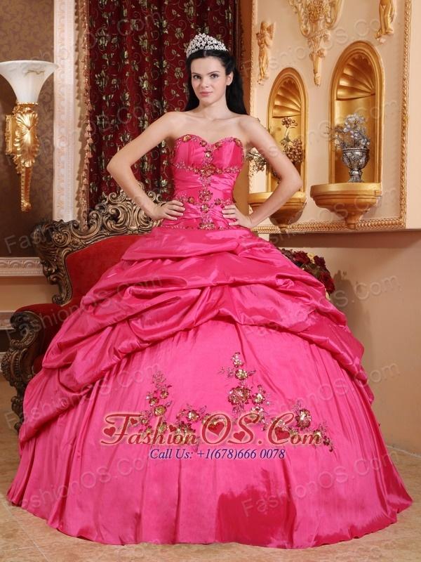 Eveng Gown Pink Taffeta