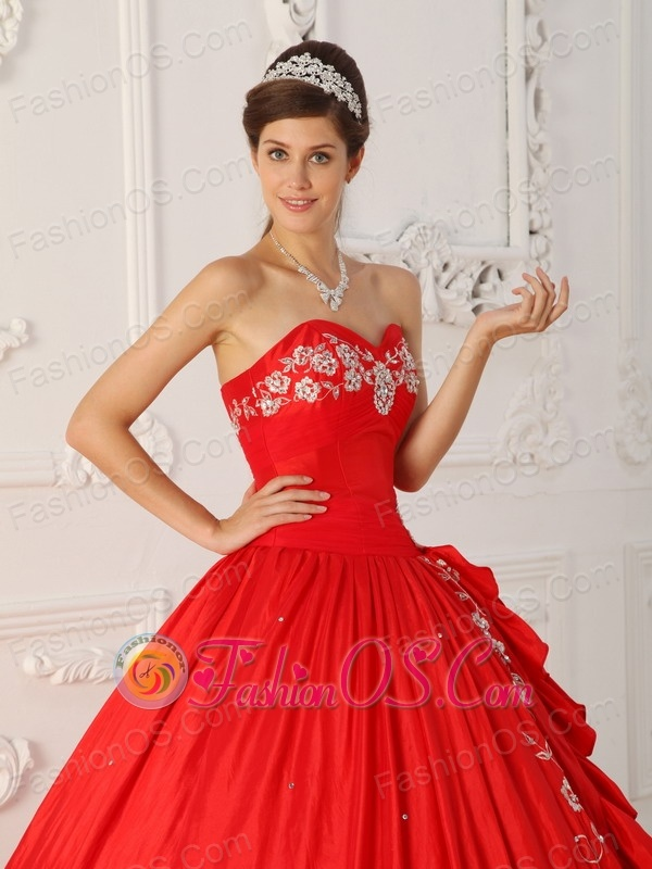 Brand New Red Sweet 16 Dress Sweetheart  Embroidery and Beading A-Line / Princess