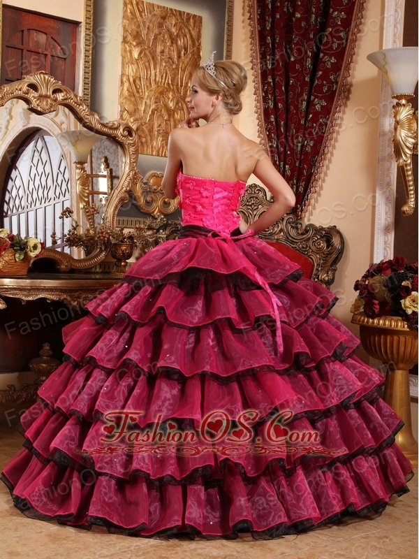 Classical Multi-color Quinceanera Dress Strapless Organza Appliques Ball Gown