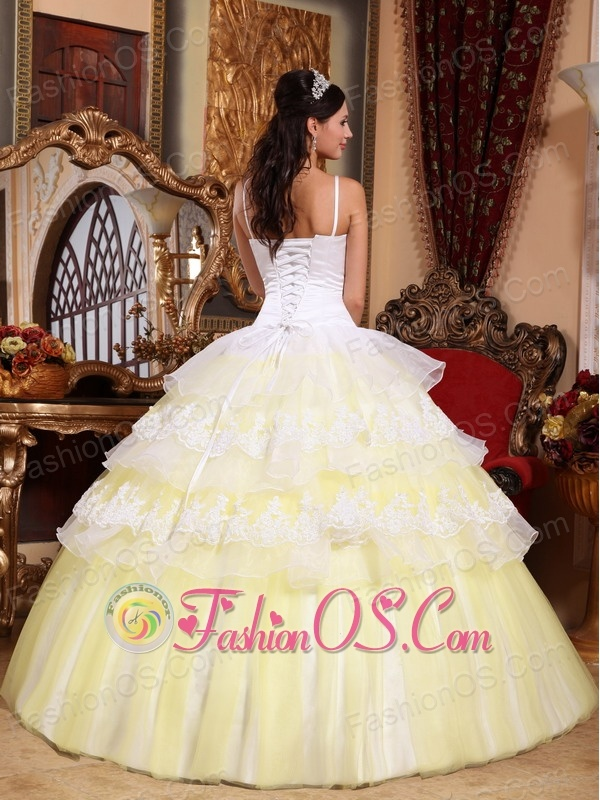 Yello n white dress for girls