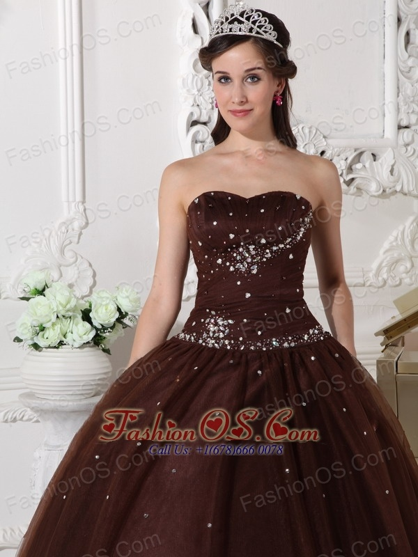 Chocolate Color Evening Gown
