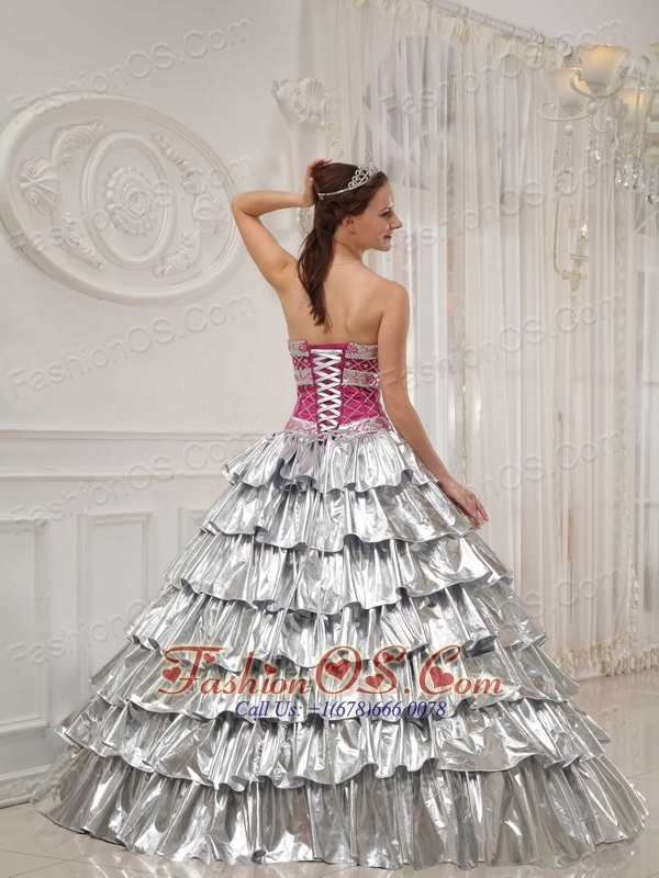 Popular Quinceanera Dress Strapless Satin and Taffeta Beading A-line / Princess