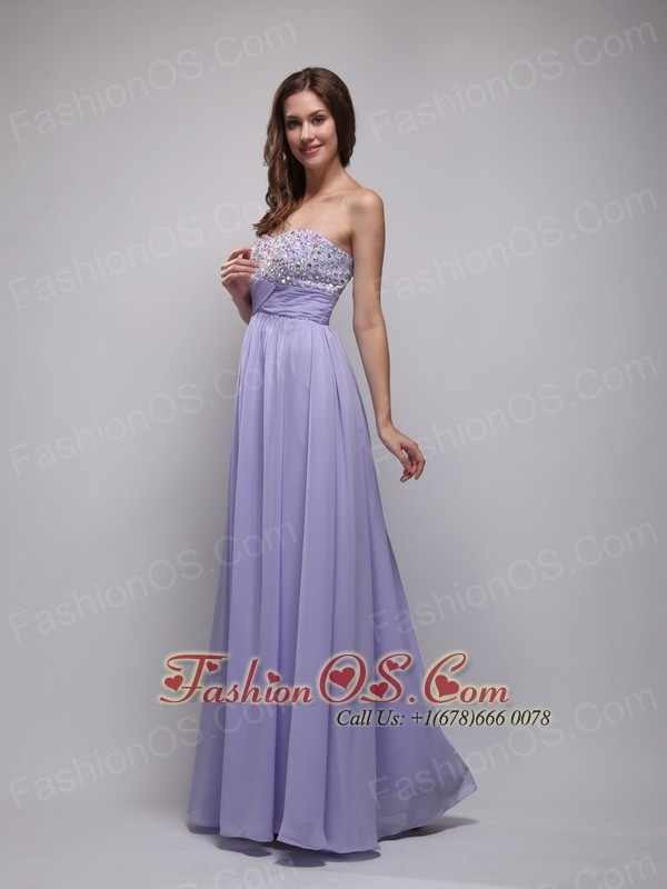 lilac floor length dress