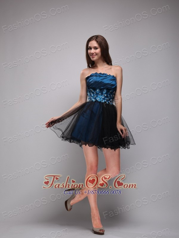 Blue and black homecoming dress - Dress on sale