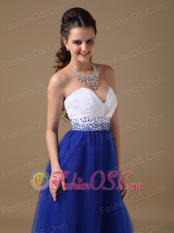 Blue and White Prom Dresses