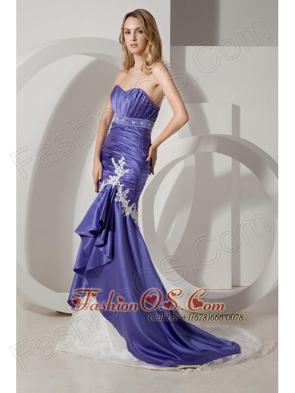 Purple Prom Dresses White