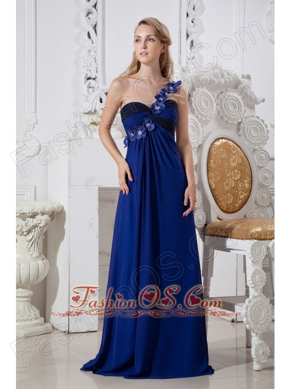 Blue Off The Shoulder Prom Dress Blue Column One Shoulder Prom