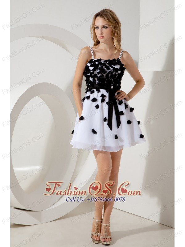 White and Black Junior Prom / Homecoming Dress A-line / Princess ...