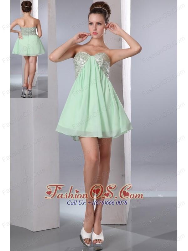 short sweetheart chiffon prom dresses