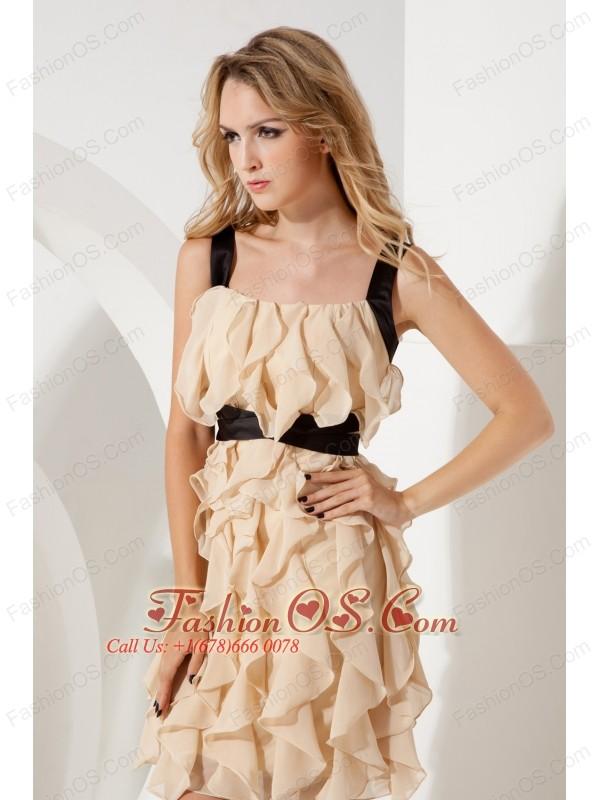 Empire Straps Ruffles Short Prom / Homecoming Dress Mini-length ...