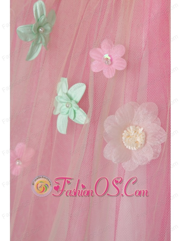 Colorful A-line Sweetheart Short Prom Dress Organza Appliques Mini-length