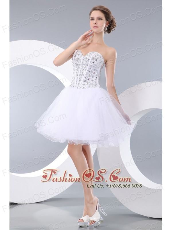 Lovely White Short Prom / Homecoming Dress A-line / Princess ...