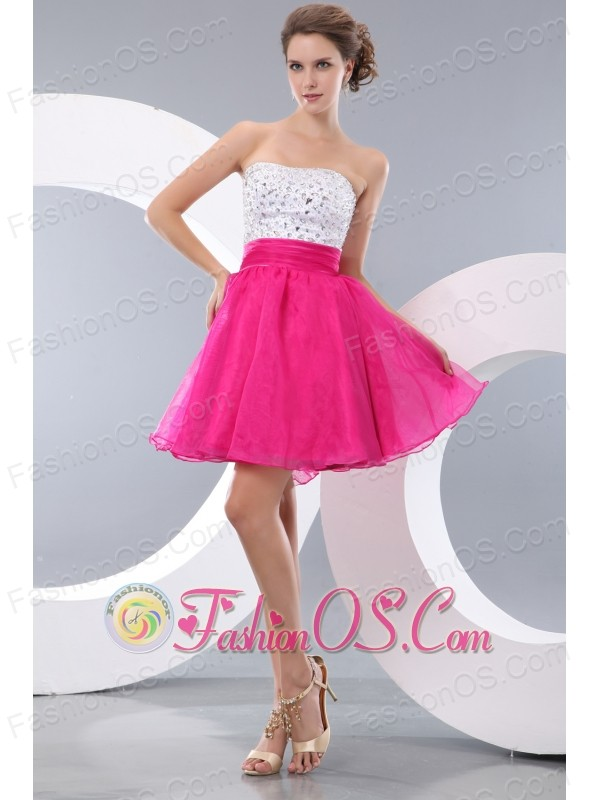 dress short hot pink