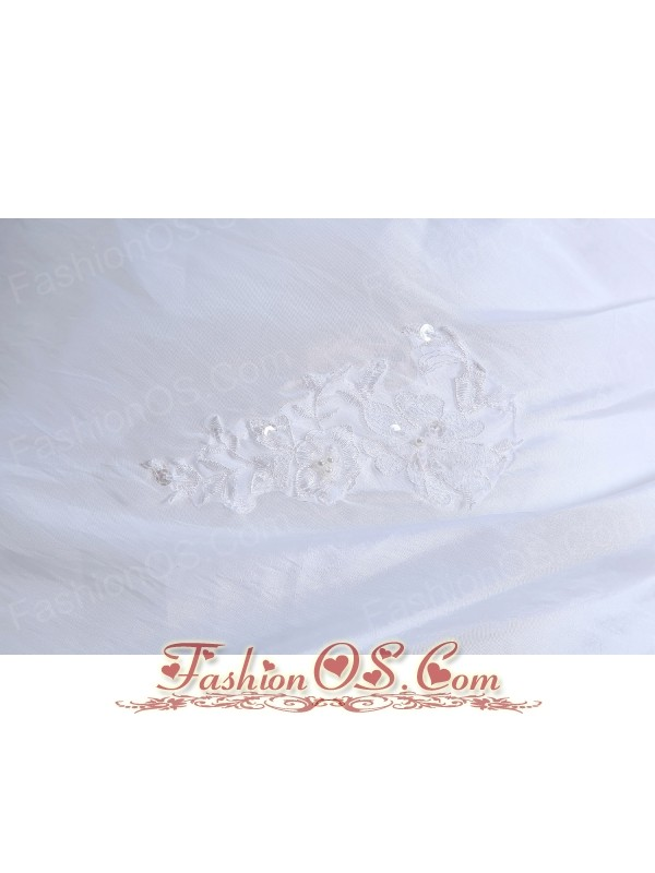 Best Wedding Dress Appliques A-line Square Court Train Tulle