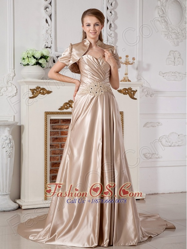 Affordable A-line Sweetheart Appliques Wedding Dress Court Train Satin
