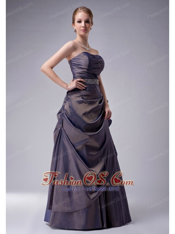 Beautiful Empire Strapless Mother Of The Bride Dress Taffeta Beading Floor-length