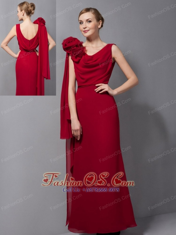mother of the groom red dresses
