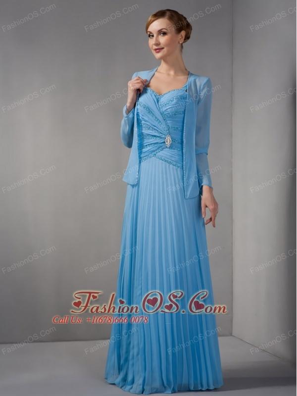 Elegant Teal Empire Mother Of The Bride Dress Straps Appliques ...