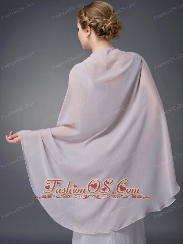 Wonderful Grey Column V-neck Mother Of The Bride Dress Chiffon Ruch Floor-length