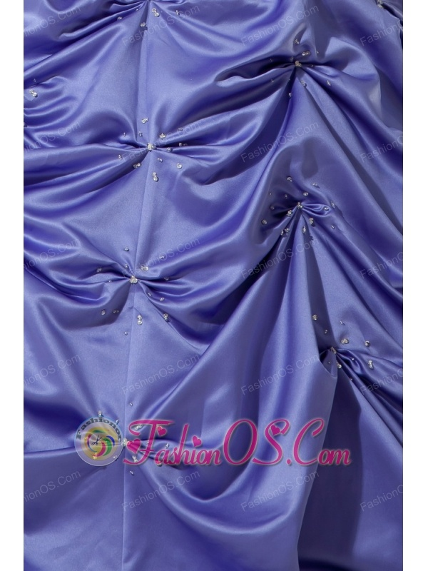 Customize Lilac Pick-ups Quinceanera Dress Spaghetti Straps with Beading