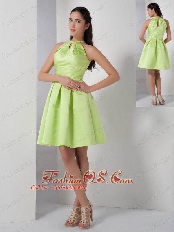 High Neck Knee Length Dress