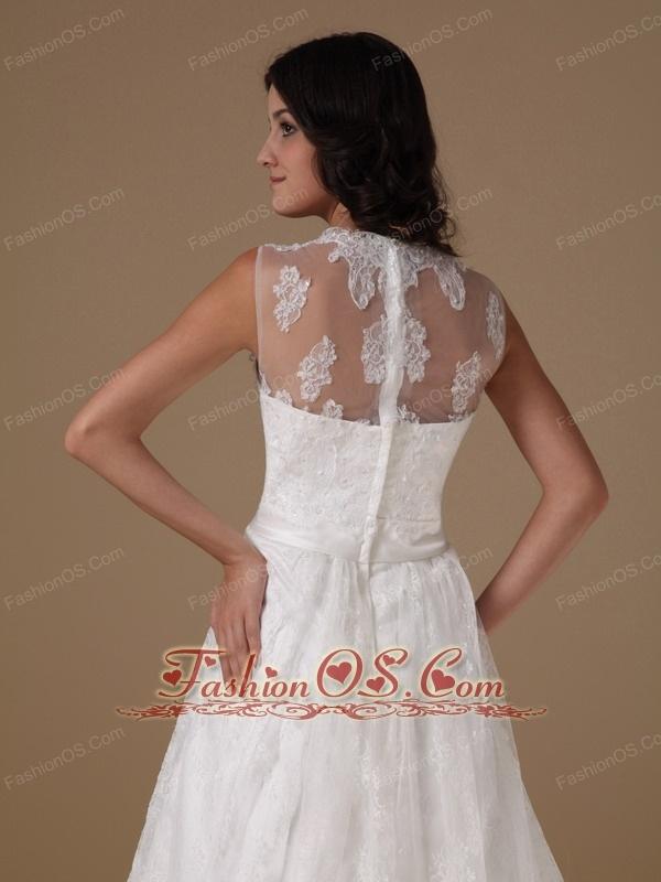 Beautiful A-line Square Wedding Dress Taffeta and Lace Beading Court Train