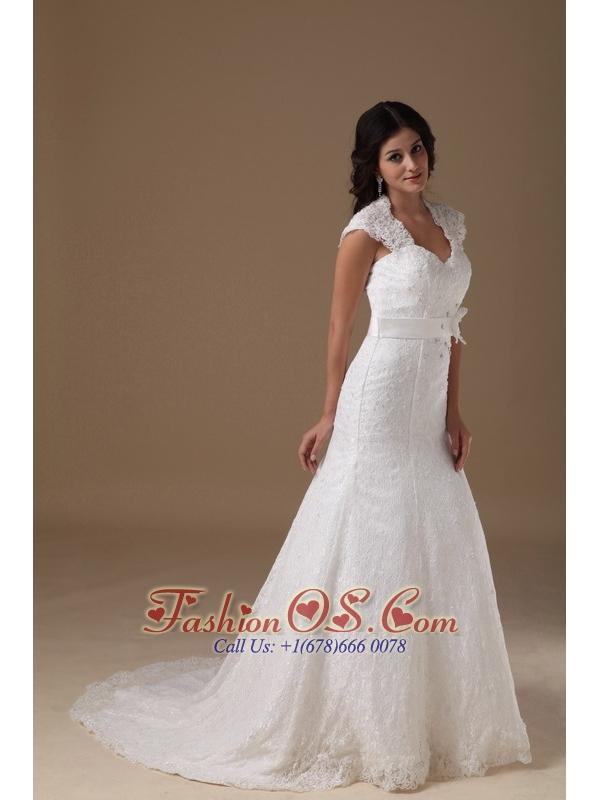 Beautiful Mermaid Wedding Dress Sweetheart Lace Beading Brush Train