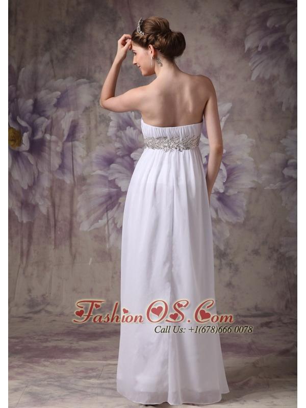 Customize Wedding Dress Empire Strapless Chiffon Appliques Floor-length