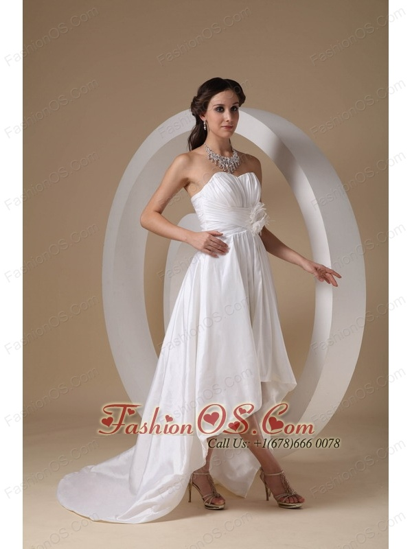 Elegant High-low Sweetheart Prom Dress Taffeta