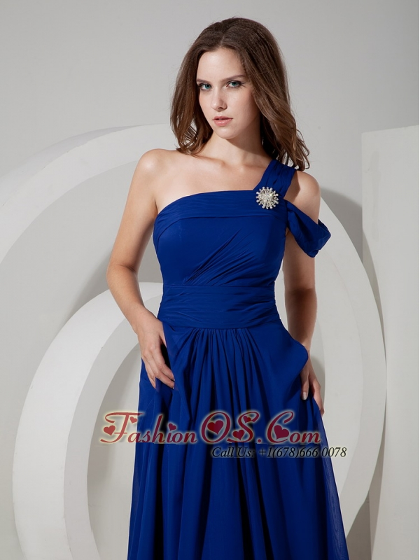 Peacock blue cocktail dress