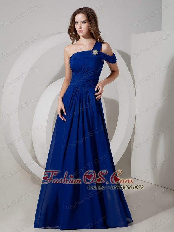 Peacock blue evening dresses