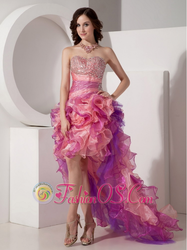 Multicolored Prom Dress