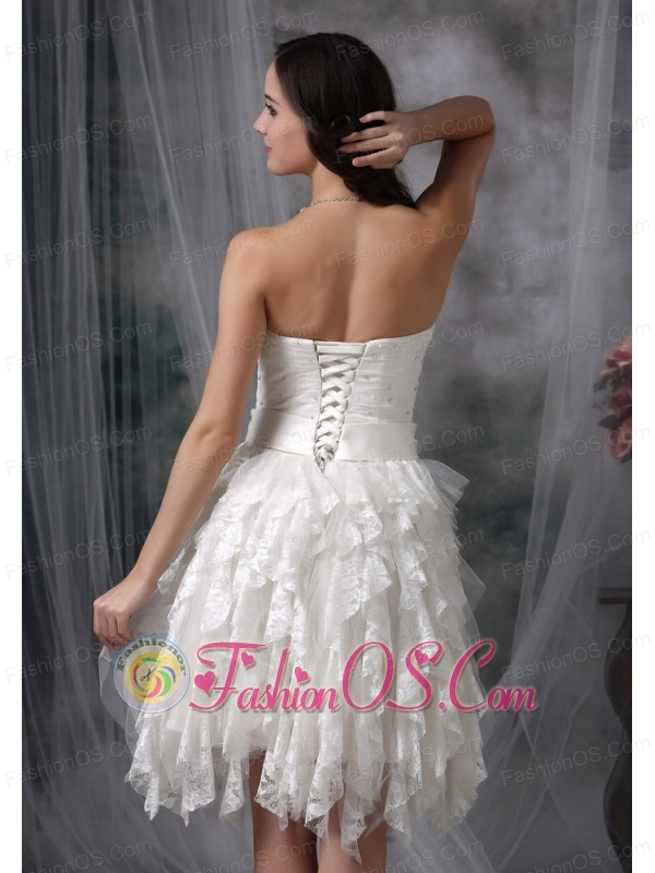 Elegant Sweetheart Short Prom Dress with Lace and Beading