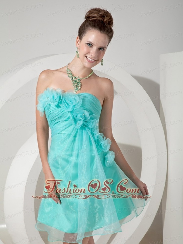 Ice Blue Short Prom Homecoming Dress Mini-length