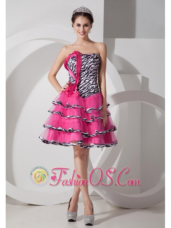 Zebra Stripe Prom Dresses 120