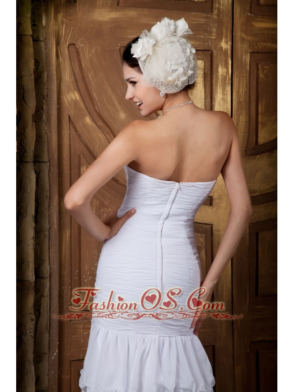 Brand New A-line Sweetheart Wedding Dress Chiffon Beading Brush Train