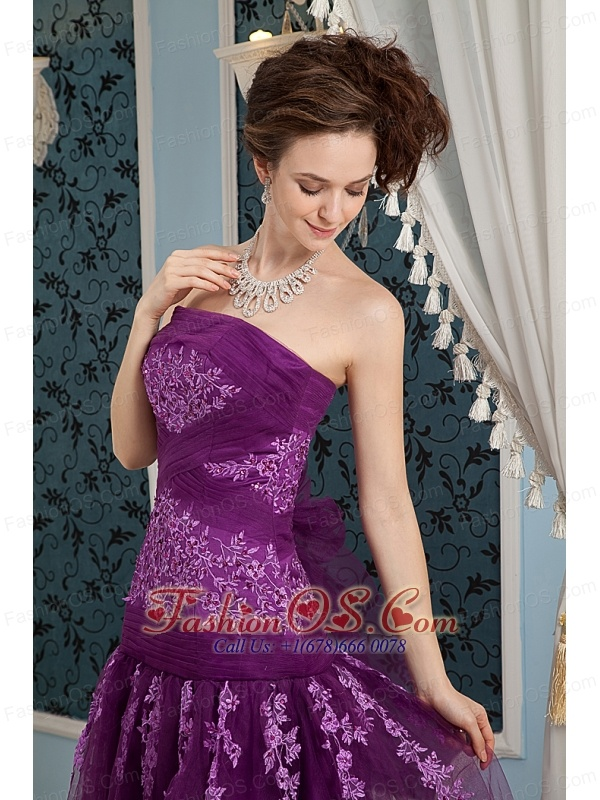 Elegant Purple Gowns