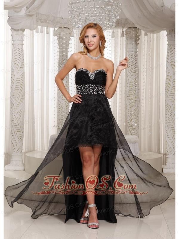 Black High-low Prom Dress