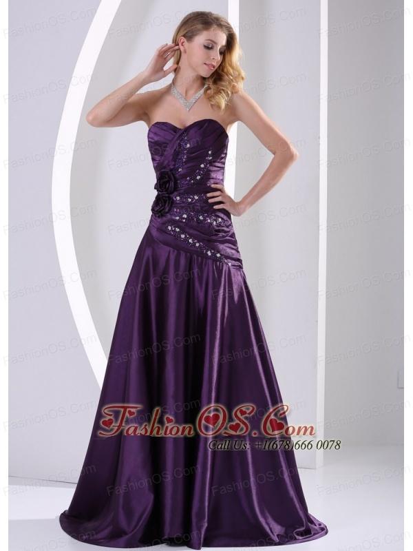 Eggplant Strapless Dress