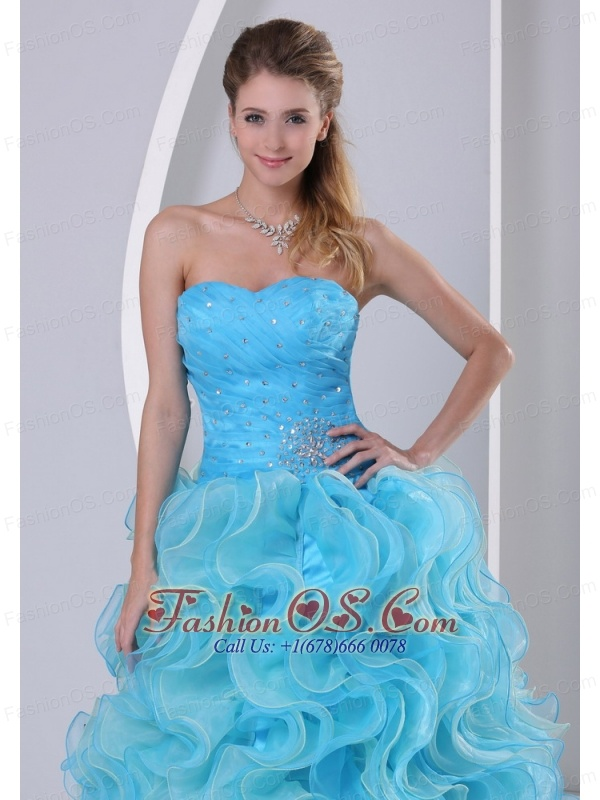 Beautiful Aqua Blue Sweetheart 2013 Prom Dress For Prom ...
