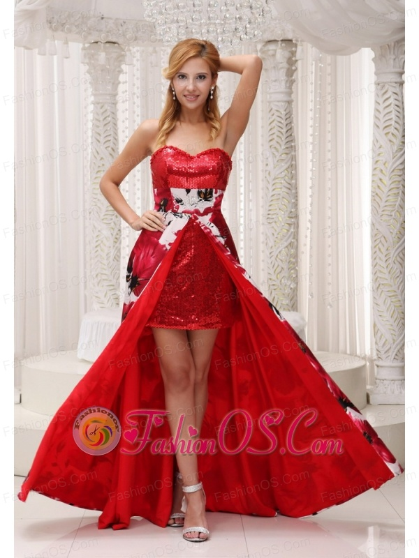 Sequin and Printing 2013 Prom / Homecoming Dress For Formal Evening Sweetheart Neckline
