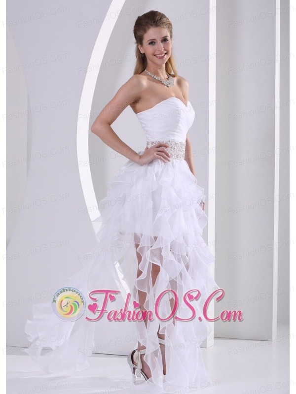 Stylish Ruffles Design Own Prom Dress With Beading and Ruch in Summer