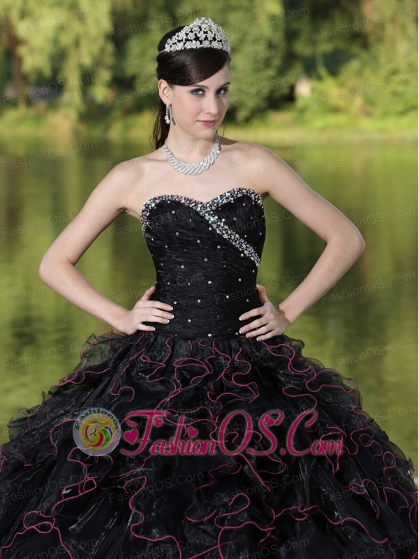 Beaded Decorate Bodice Sweetheart and Black Ball Gown For 2013 ...