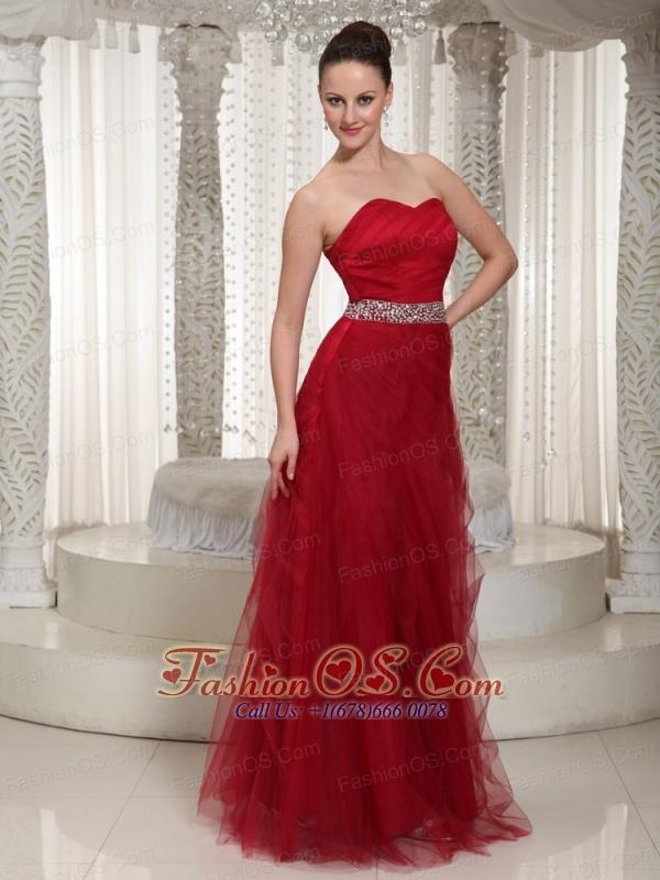 Beaded Embellishment Floor-length Tulle Sweetheart Homecoming Dress For Wear