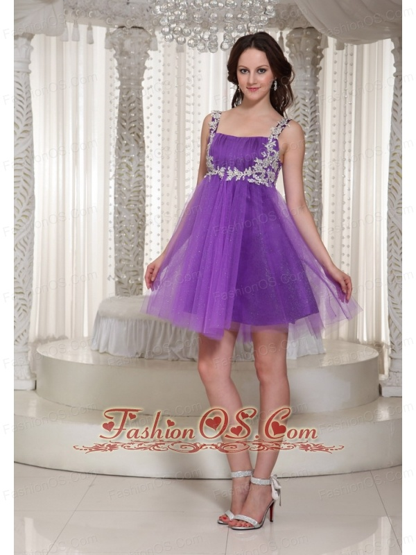 Appliques Decorate Straps 2013 Prom / Cocktail Dress With Mini-length