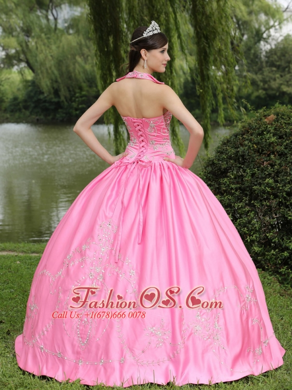 Rose Pink 2013 New Arrival Square Neckline Beaded Decorate For Quinceanera Dress