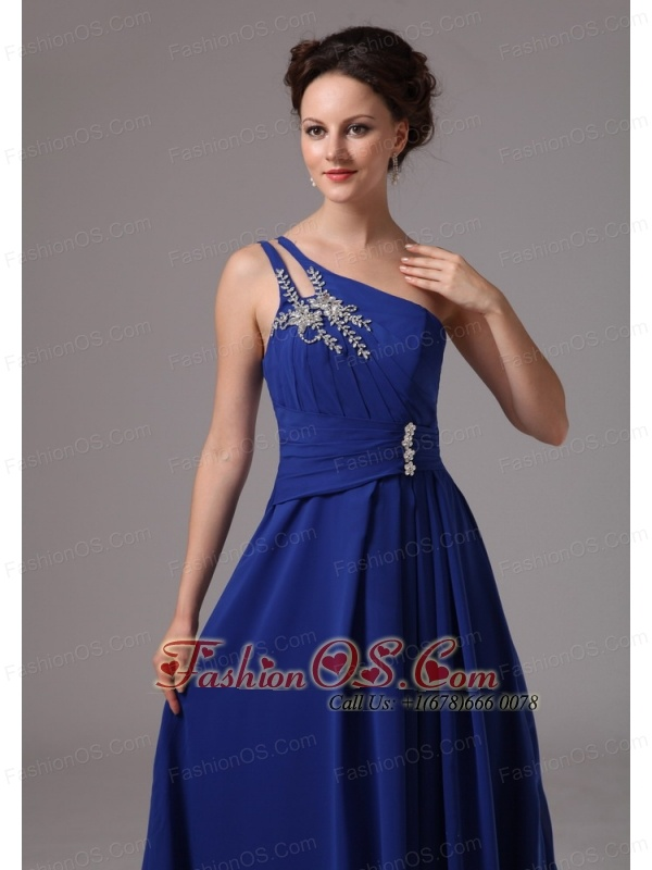 Royal Blue One Shoulder Appliques Prom / Evening Dress For Prom Party In Lithonia Georgia