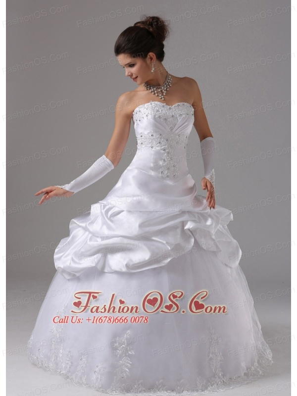 Alpine California City For Wedding Dress With Appliques and Pick-ups Ball Gown