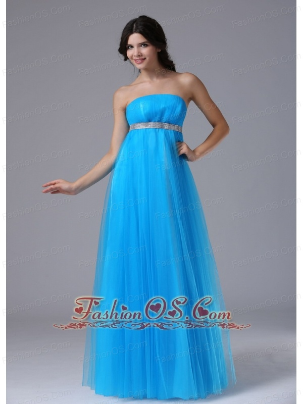 Custom Made Aqua Blue and Belt For 2013 Prom Dress In Benicia ...