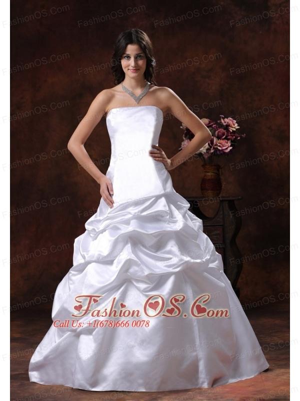 Litchfield Park Arizona Custom Made Strapless White Ball Gown Wedding Dress
